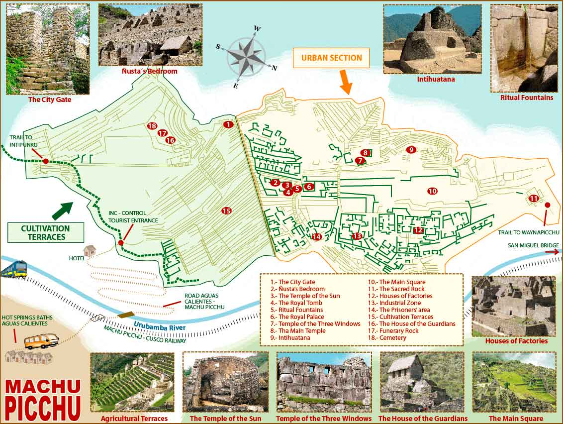 Machu Picchu sanctuary map